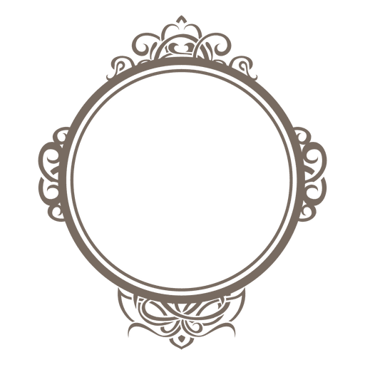 Rounded ornamented frame Transparent PNG