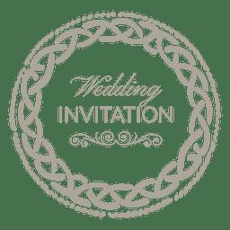 invitación de la boda etiqueta redondeada 6