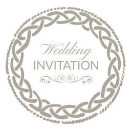 Rounded wedding invitation label 6