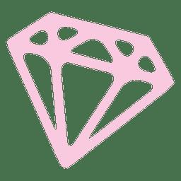 Icono de diamante rubí