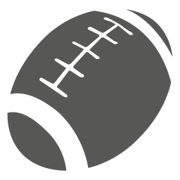 Rugbyball-Symbol Silhouette
