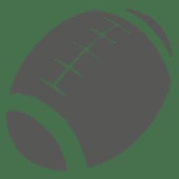 Silhueta de ícone de bola de rugby