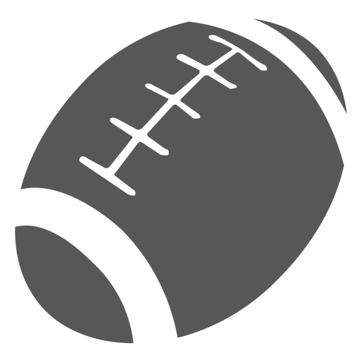 Rugby ball icon silhouette Transparent PNG