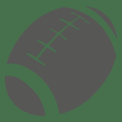 Silhueta de ícone de bola de rugby Transparent PNG