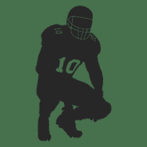 Jugador de rugby captura de silueta