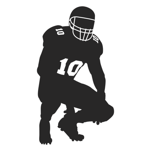 Rugby player catching silhouette