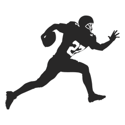 Rugby player running silhouette