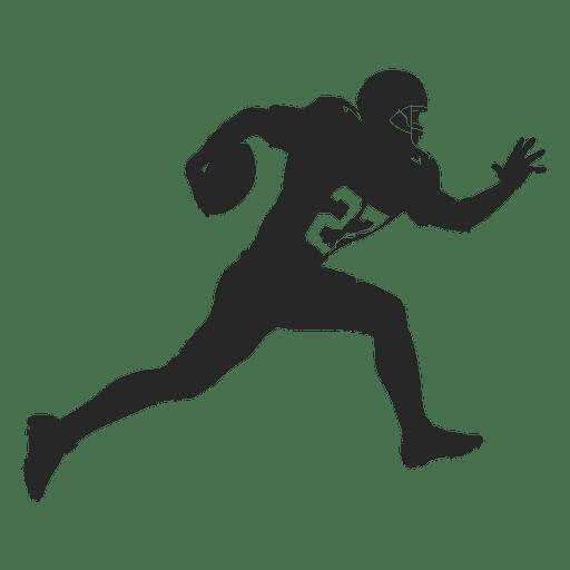Silhueta de corrida de jogador de rugby Transparent PNG
