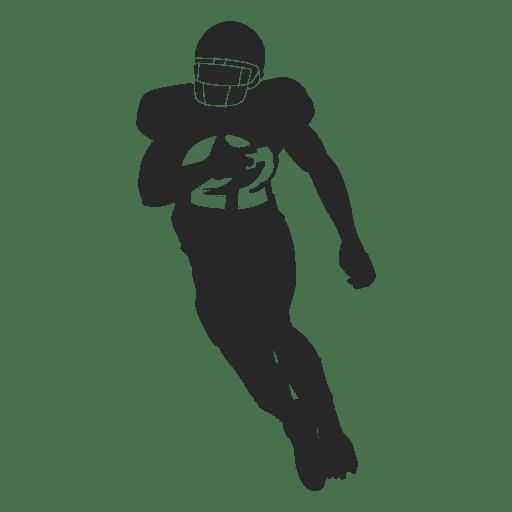 Jogador de rugby correndo silhueta 2 Transparent PNG