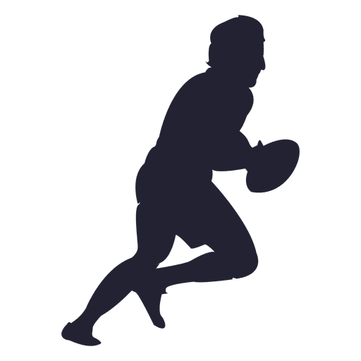 rugby player silhouette 6 transparent png   svg vector Football Players Quarterback Silhouette Clip Art Football Player Clip Art