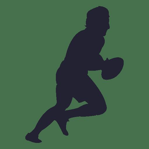 Silhueta de jogador de rugby 6 Transparent PNG