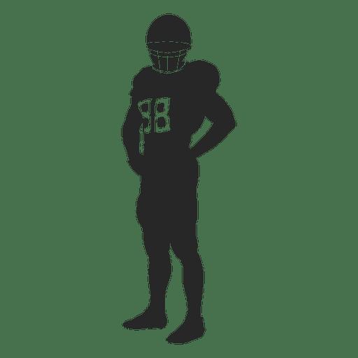 Silhueta de pé de jogador de rugby Transparent PNG
