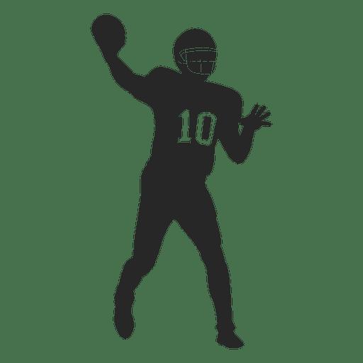 Jogador de rugby jogando silhueta Transparent PNG