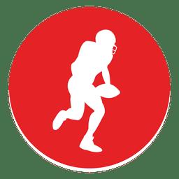 Ícone de círculo de esporte rugby