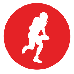 Icono de círculo de deporte de rugby