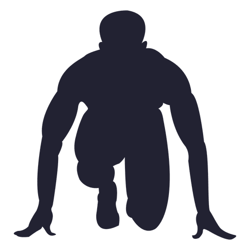 Silueta de niño corriendo marca Transparent PNG