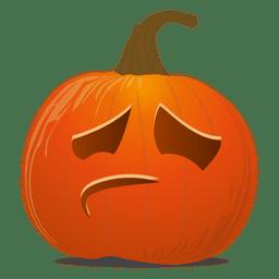 Emoticon de calabaza triste