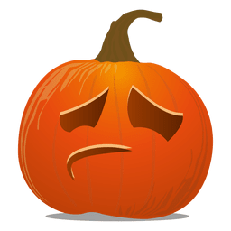 Sad pumpkin emoticon