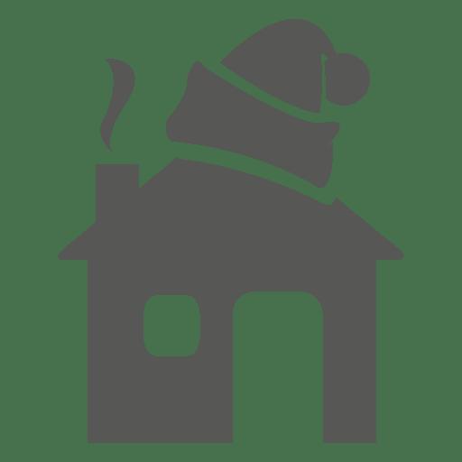 Sombrero de santa en casa icono