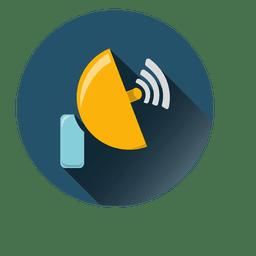 Satellite circle icon