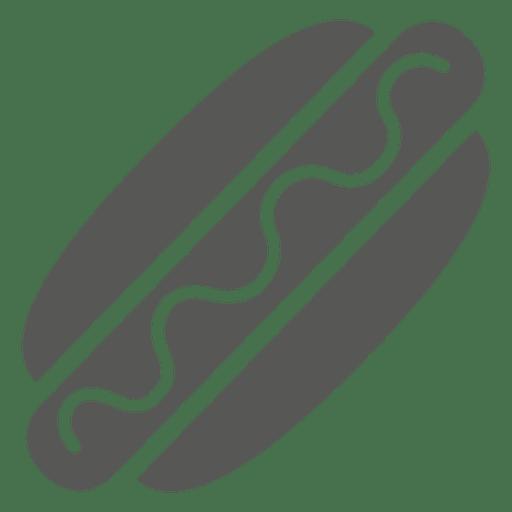 Icono de hotdog de salchicha Transparent PNG