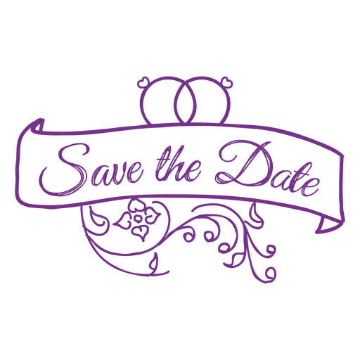 Save the date badge