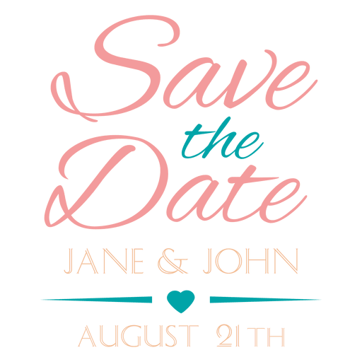 Save the date badge 4 - Transparent PNG & SVG vector