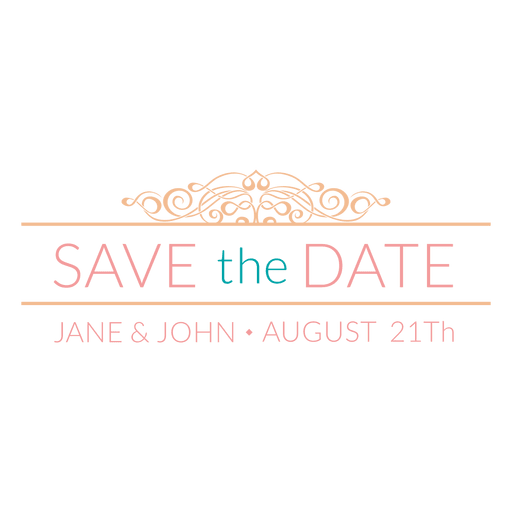 Save the date badge 5 Transparent PNG