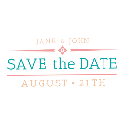 Save the date badge 6