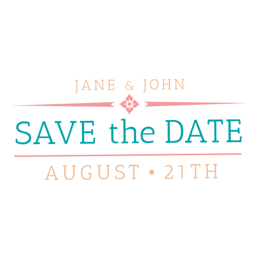 Save the date badge 6 Transparent PNG