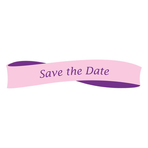 Save the date banner Transparent PNG