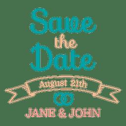 Save the date emblem 3