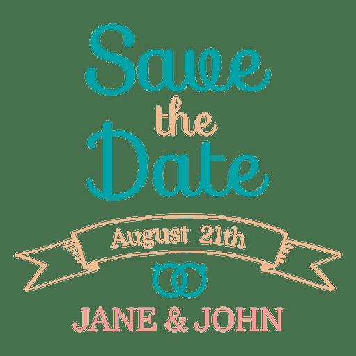 Save the date emblem 3 - Transparent PNG & SVG vector