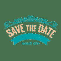 Save the date emblem 4