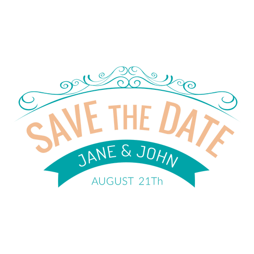 Save the date emblem 4 Transparent PNG