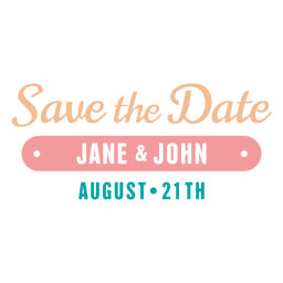 Save the date label 5