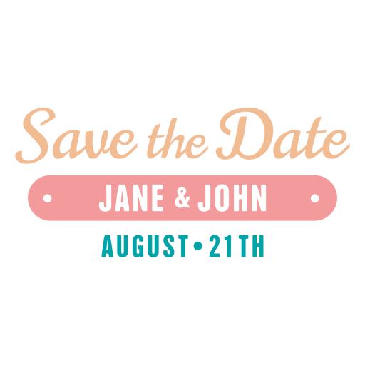 Save the date label 5 Transparent PNG