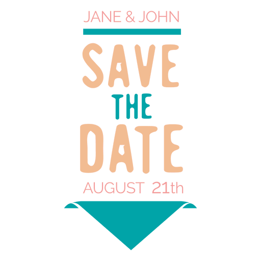 Save the date label 6 Transparent PNG