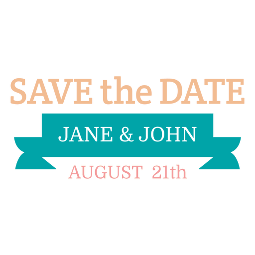 Save the date label 7