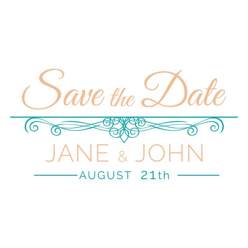 Save the date label 8 Transparent PNG