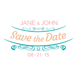 Save the date label 9