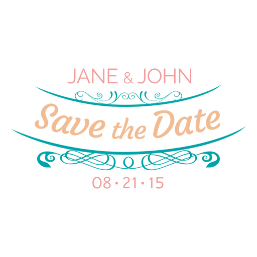 Save the date label 9 Transparent PNG