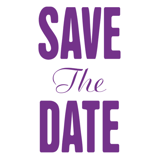 Save the date seal Transparent PNG