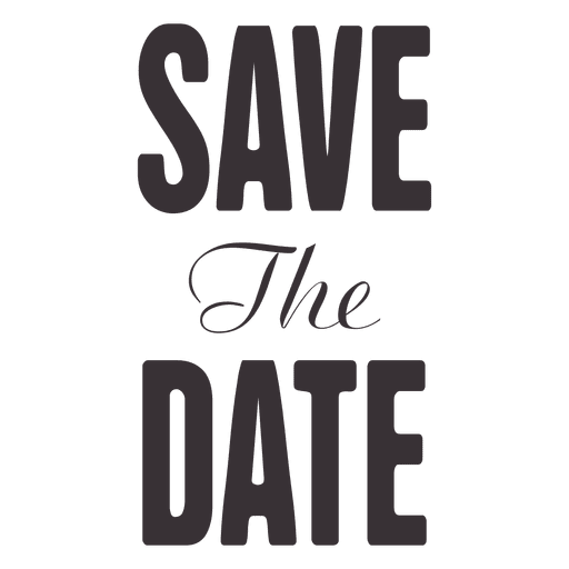 Save the date typography