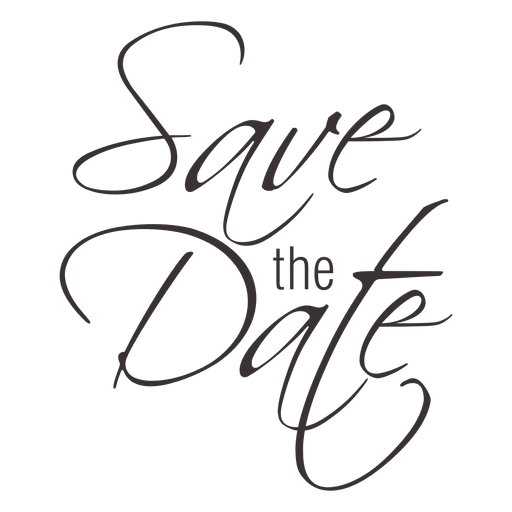 Save the date typography 2