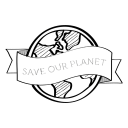 Save your planet label