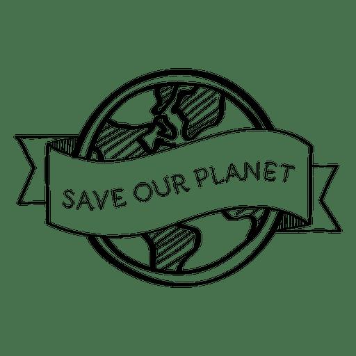 Save your planet label Transparent PNG