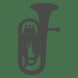 Saxhorn baritone silhouette