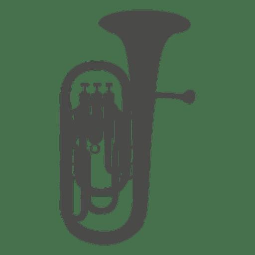 saxhorn baritone silhouette transparent png   svg vector guitar clipart google guitar clip art on transparent background