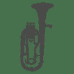 Saxhorn silhouette